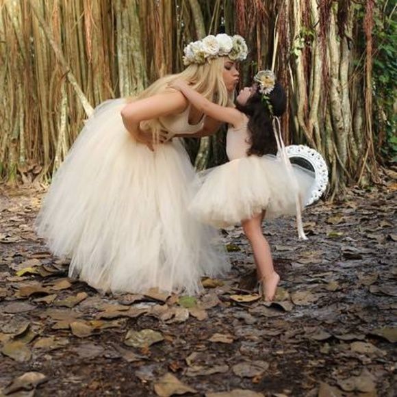 1434bf806f BB's Boutique Skirts | Mother Daughter Matching Beige Tutu Set ...
